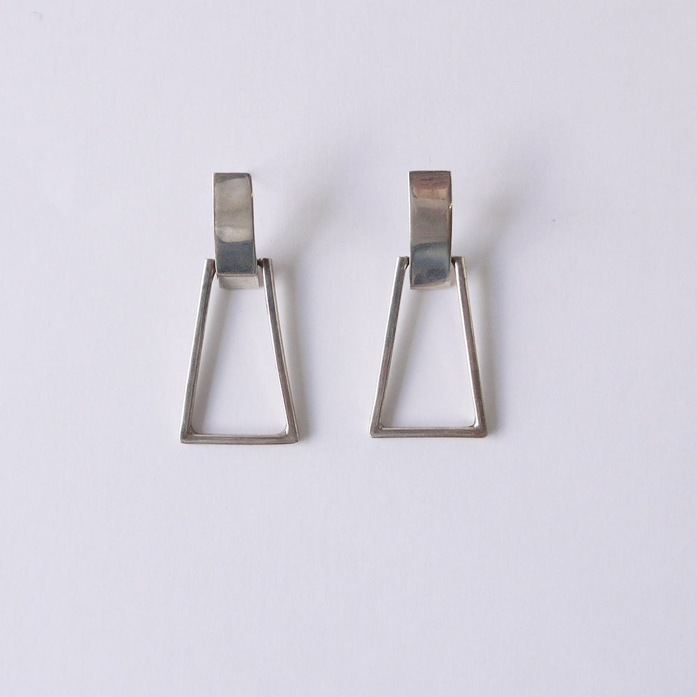 Vintage Taxco Sterling Geometric Dangle Earrings