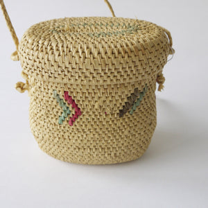 Load image into Gallery viewer, Vintage Small Panama Raffia Basket Purse