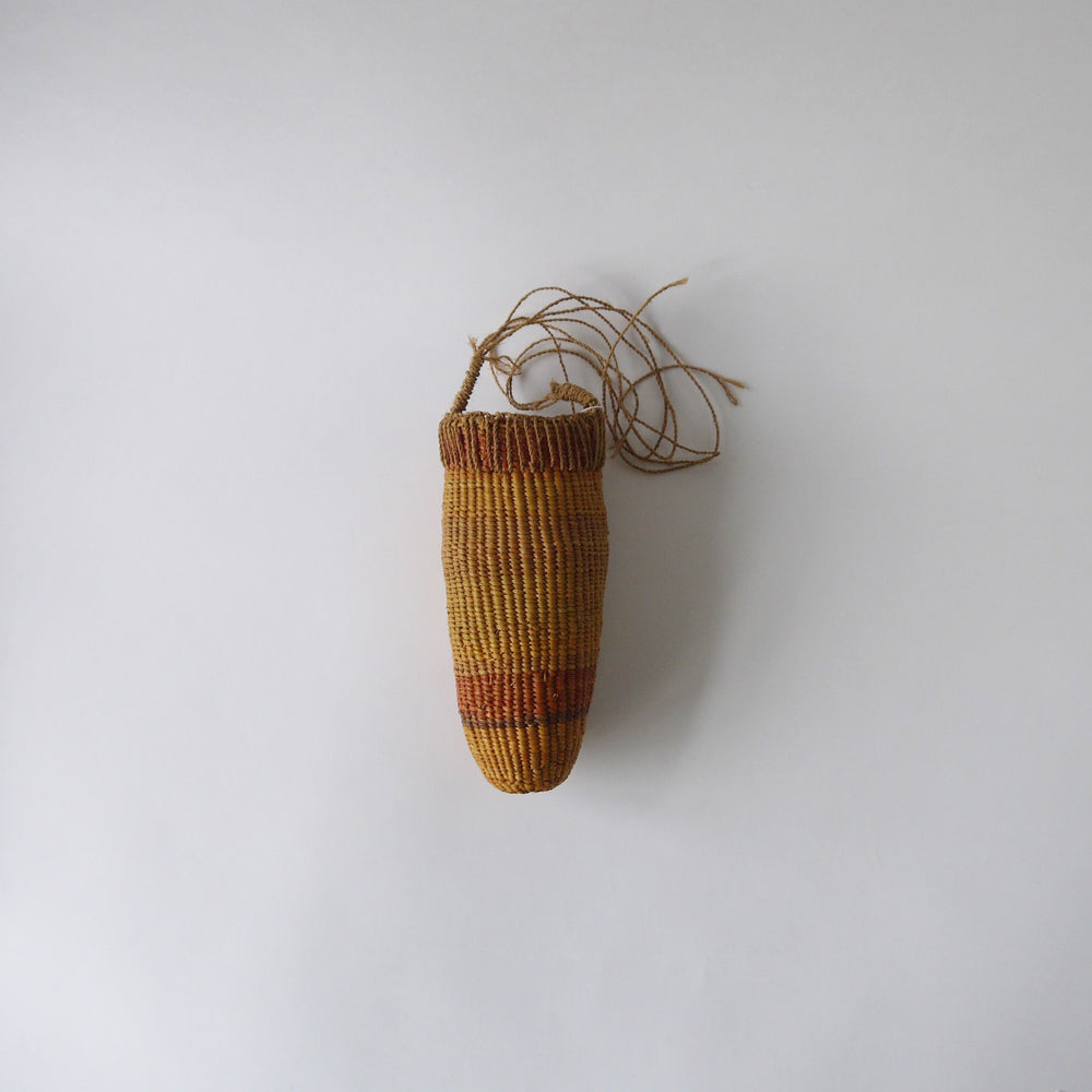 Vintage Orange Conical Basket