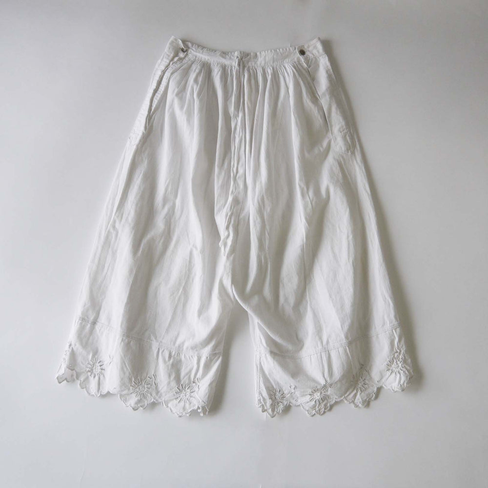 Vintage French 1900s White Cotton Bloomers