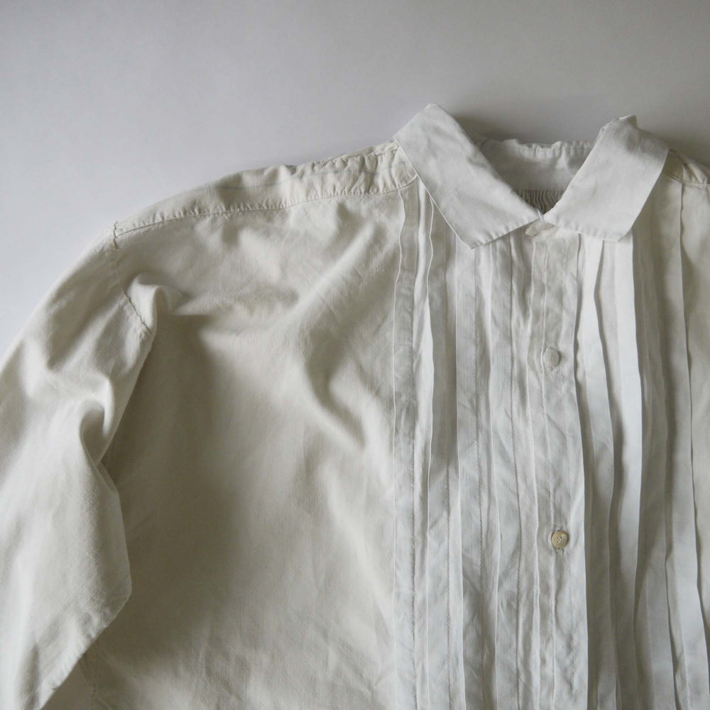 Vintage French Early 1900s White Cotton Shirt Smock
