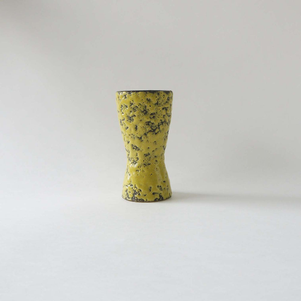 Load image into Gallery viewer, Vintage Yellow Scheurich ceramic vase,70s ceramic vase west Germanpottery