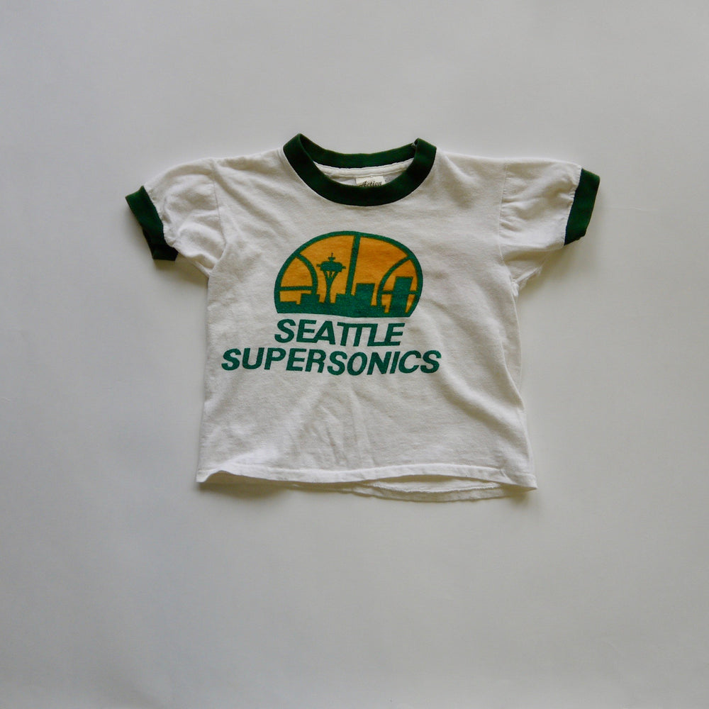 vintage kids 1970/80s NBA Basketball all cotton graphic ringer t-shirt