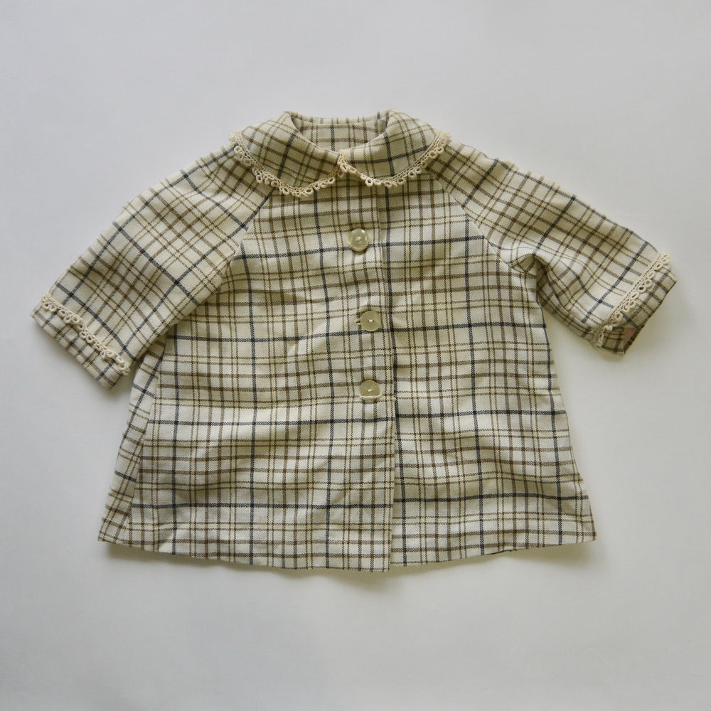 Load image into Gallery viewer, vintage girls 1940/50s plaid coat