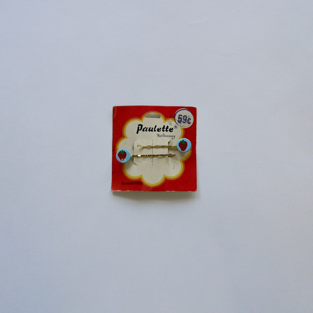 Load image into Gallery viewer, vintage Novelty Fruit Strawberry Pin /blue