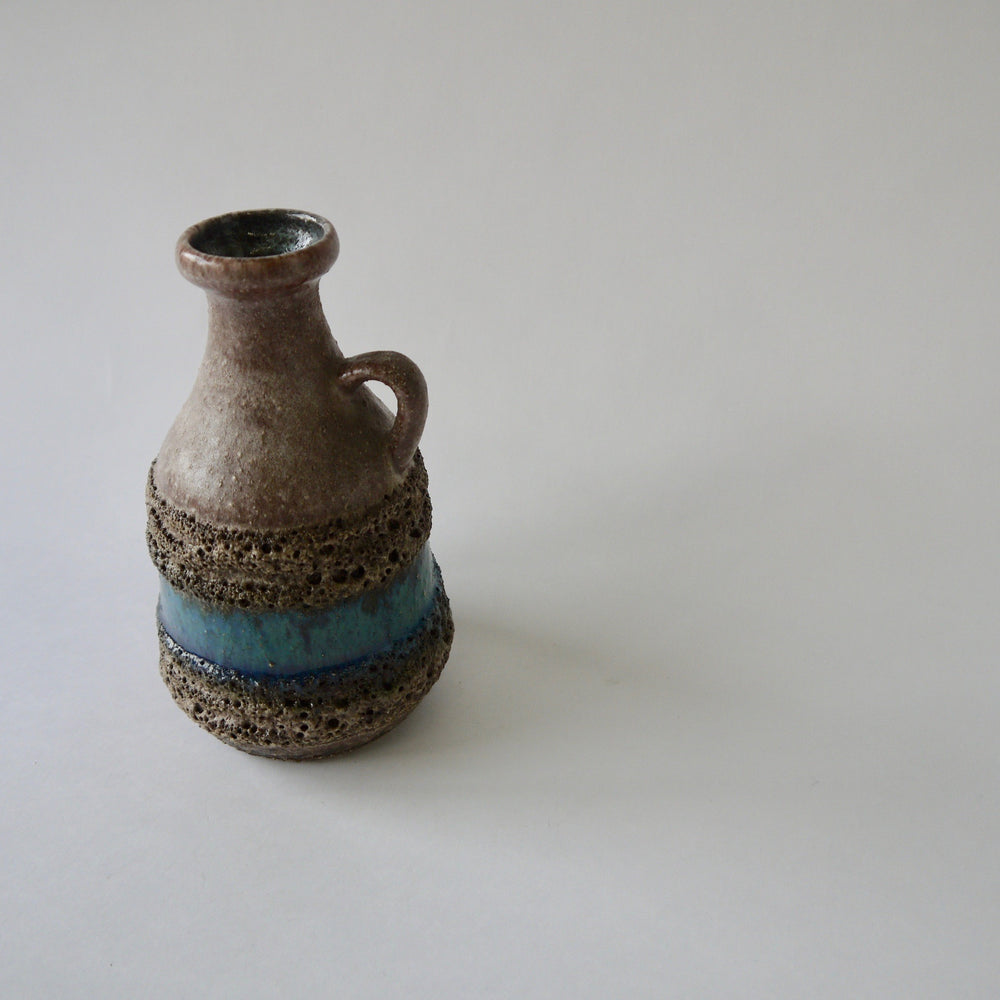 1960-70's Vintage East German pottery blue gray ceramic vase