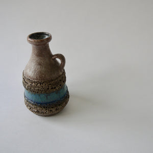 Load image into Gallery viewer, 1960-70's Vintage East German pottery blue gray ceramic vase