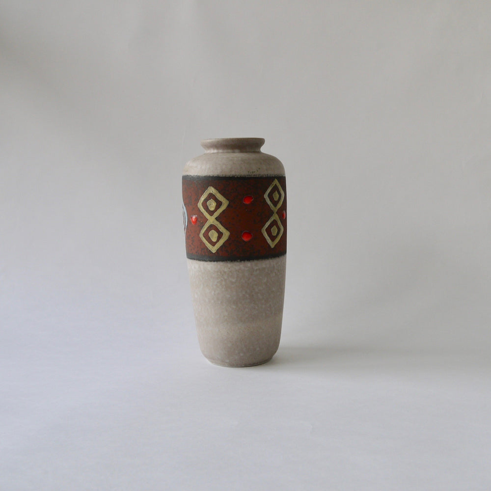 1950-60's Vintage East German pottery mat gray tall ceramic vase