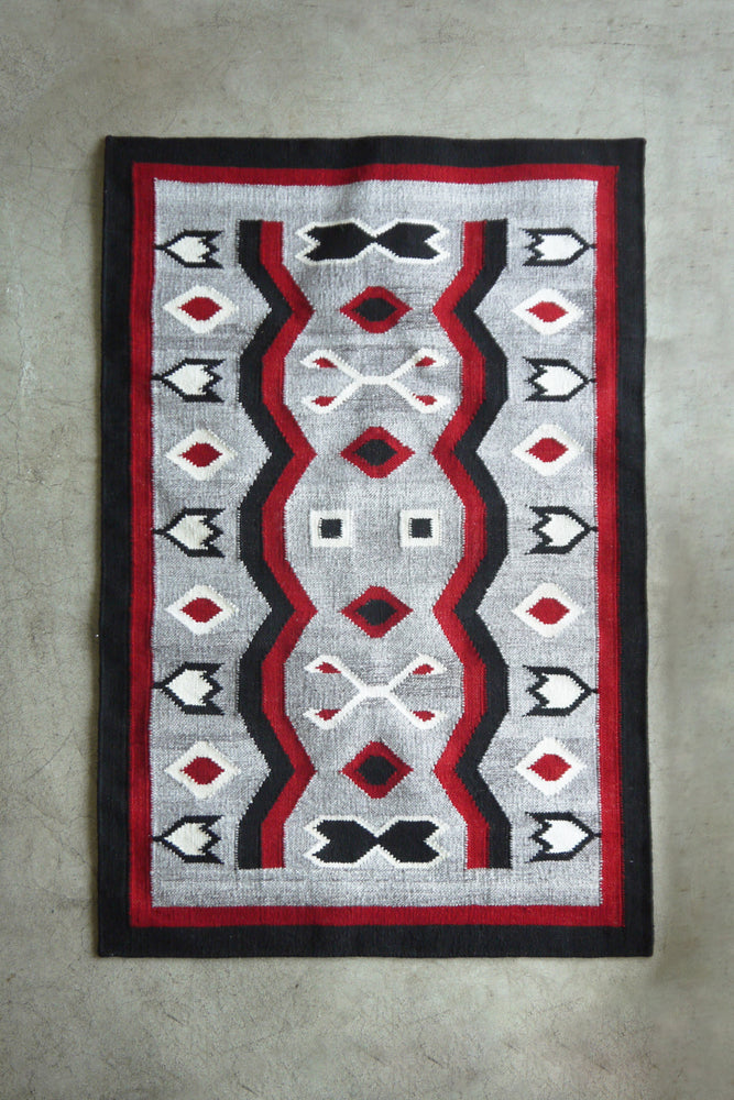 Load image into Gallery viewer, Vintage Navajo Hand Woven kilim Geometrical Pattern Wool Area Rugs 97×155cm