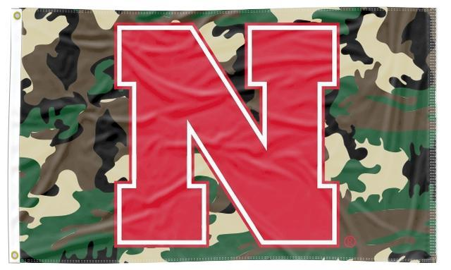 University of Nebraska - Huskers Camo 3x5 Flag