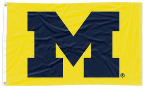 Michigan - Wolverines Yellow 3x5 Flag