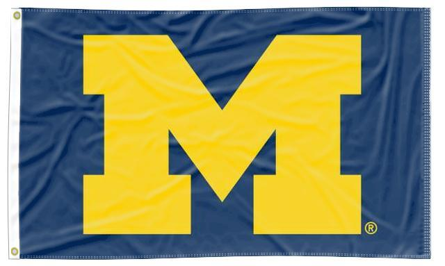 Michigan - Wolverines Blue 3x5 Flag