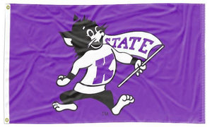 Kansas State - Willie Wildcat Purple 3x5 Flag