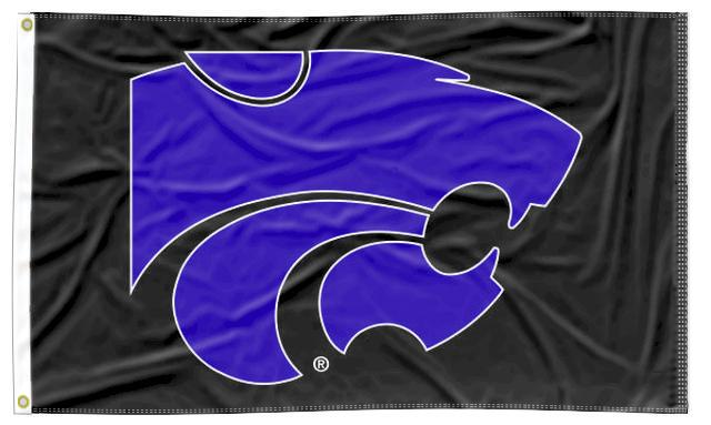 Kansas State - Wildcats Black 3x5 Flag