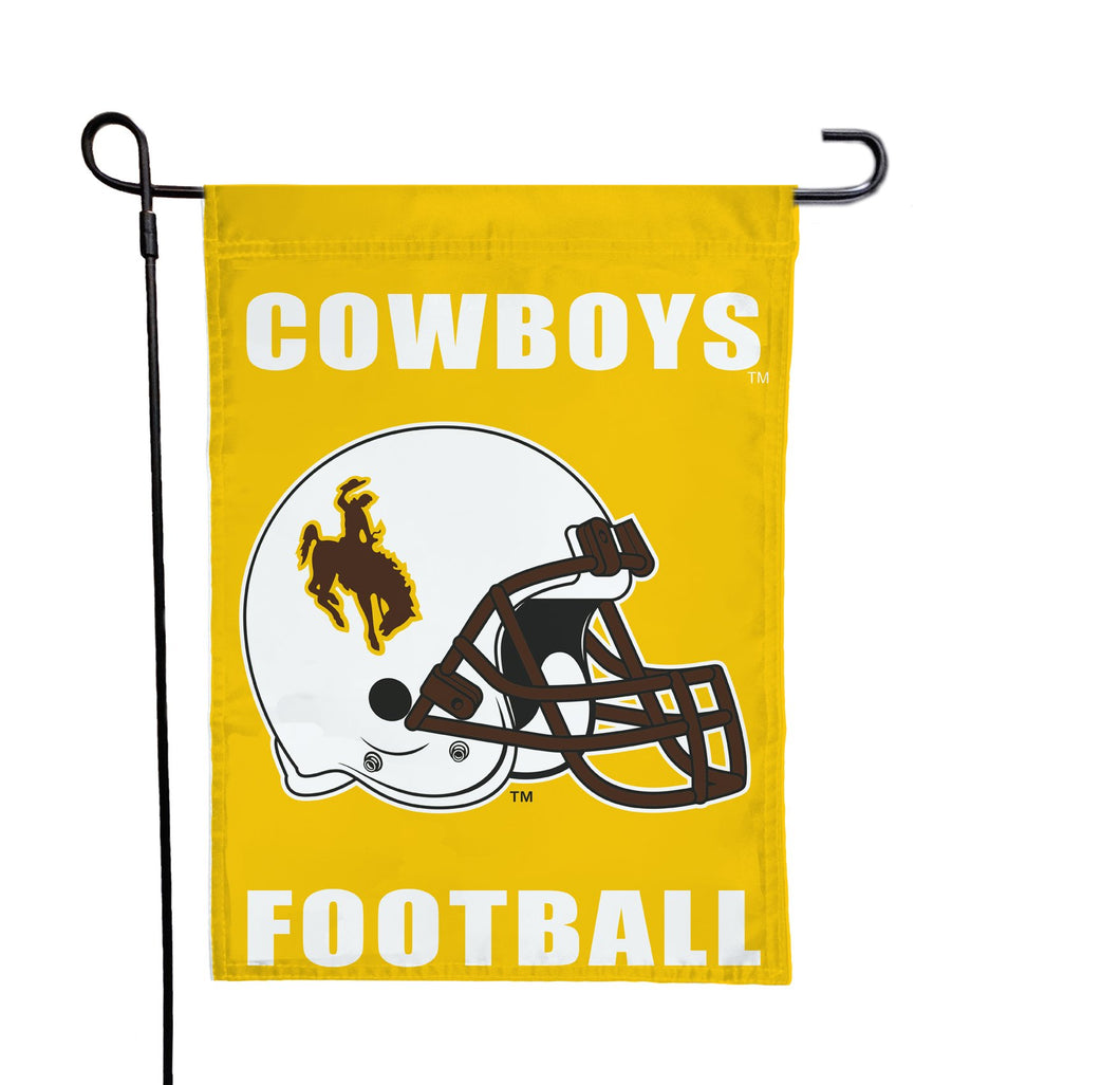 Wyoming - Cowboys Football Yellow Garden Flag