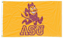 Load image into Gallery viewer, Arizona State University - Sparky Sun Devils Gold 3x5 Flag