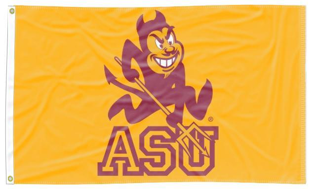 Arizona State University - Sparky Sun Devils Gold 3x5 Flag