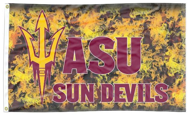 Arizona State University - Sun Devils Fire 3x5 Flag