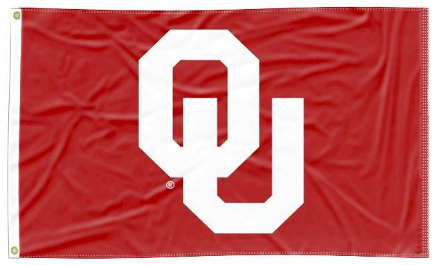 Oklahoma - OU Red 3x5 Flag