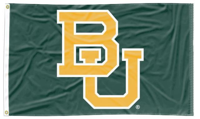 Baylor - BU Green 3x5 Flag
