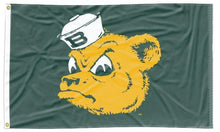 Load image into Gallery viewer, Baylor - Sailor Bear Green 3x5 Flag