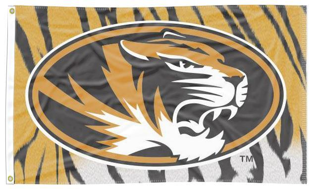 Missouri - Tiger Skin Background 3x5 Flag