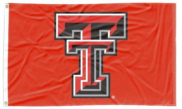 Texas Tech - Red Raiders Red 3x5 Flag