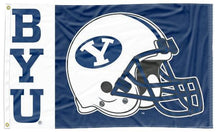 Load image into Gallery viewer, BYU - Football Helmet 3x5 Flag