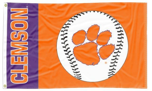Clemson - Tigers Baseball 3x5 Flag