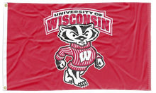 Load image into Gallery viewer, Wisconsin - UW Badgers Red 3x5 Flag