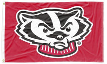 Load image into Gallery viewer, Wisconsin - Badger Red 3x5 Applique Flag
