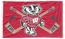 Load image into Gallery viewer, Wisconsin -  Badgers Hockey 3x5 Flag