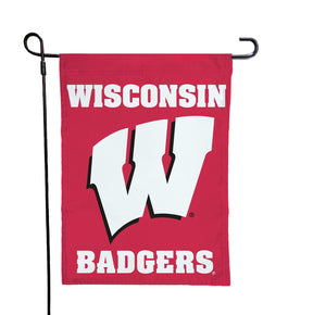 Wisconsin - Motion W Red Garden Flag