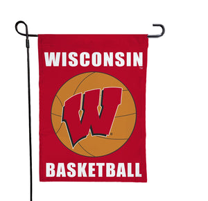 Wisconsin - Badgers Basketball Garden Flag