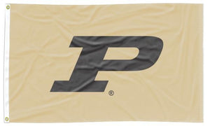 Purdue - P Gold 3x5 Applique Flag