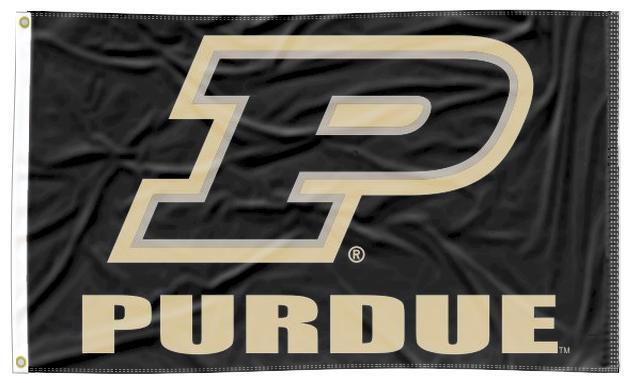 Purdue - Motion P Black 3x5 Flag