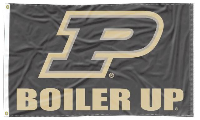 Purdue - Boiler Up Black 3x5 Flag