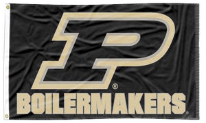 Purdue - P Boilermakers Black 3x5 Flag
