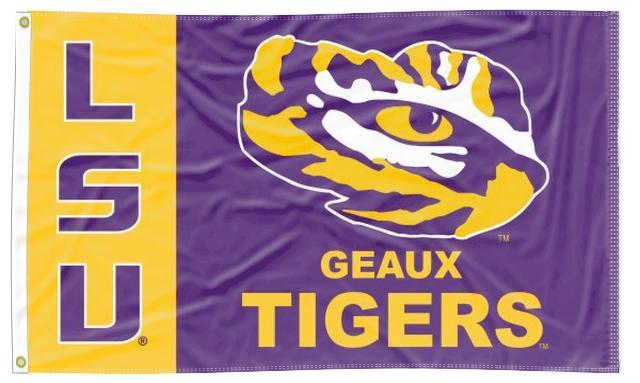LSU - GEAUX Tigers 3x5 Flag
