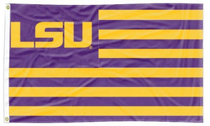 LSU - Tigers National Applique 3x5 Flag