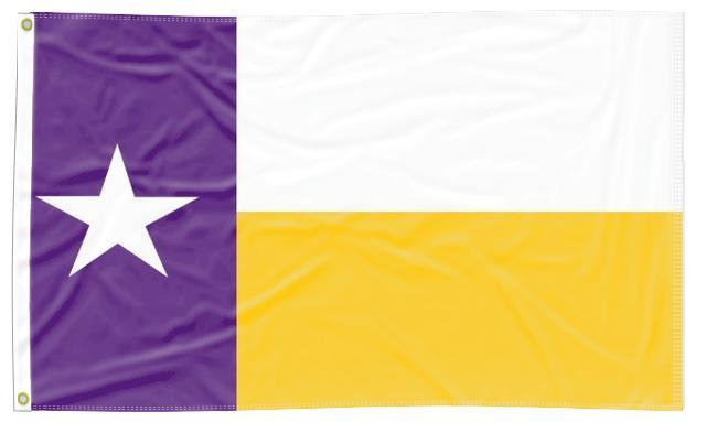 LSU -  Flag of Texas Style 3x5 Flag