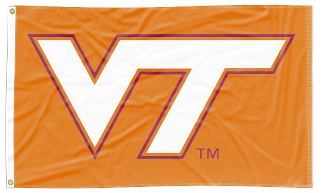 Virginia Tech - Hokies Orange 3x5 Flag