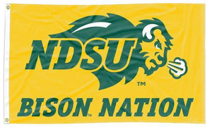 North Dakota State - Bison Nation Yellow 3x5 Flag