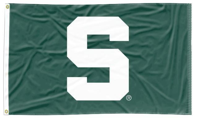 Michigan State - S Spartans 3x5 Applique Flag