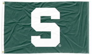 Michigan State - S Spartans Green 3x5 Flag