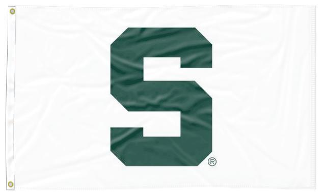 Michigan State - MSU White 3x5 Flag