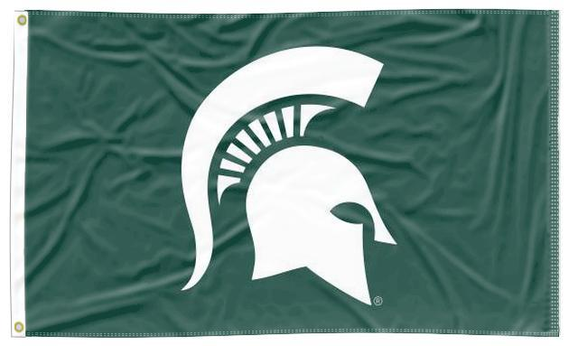 Michigan State - Spartans Green 3x5 Flag