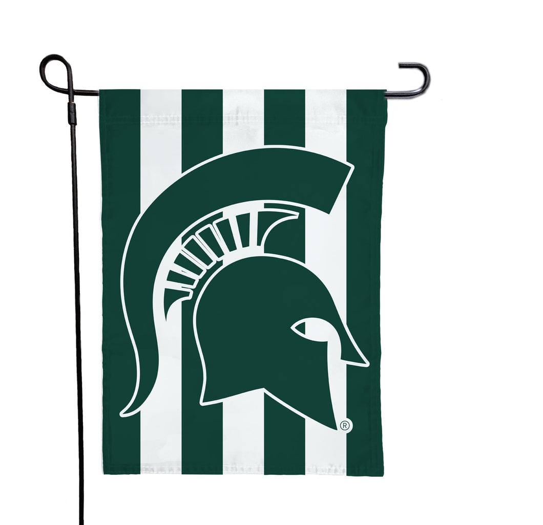 Michigan State - Spartan Stripes Garden Flag