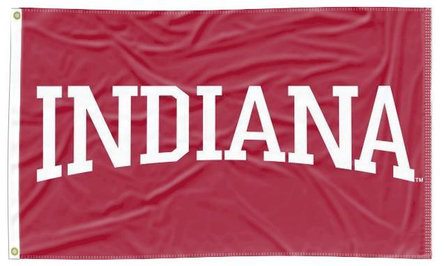Indiana - University Red 3x5 Flag
