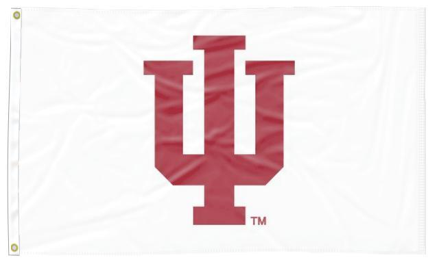 Indiana - Hoosiers White 3x5 Applique Flag